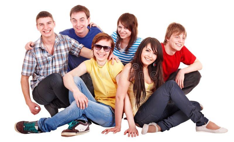 Grupo de jovens felizes. foto de stock royalty free