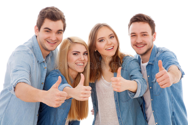 Grupo de jovens felizes foto de stock royalty free