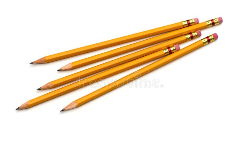 Grupo de lápis fotografia de stock