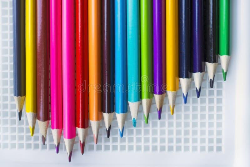Grupo de lápis coloridos imagens de stock royalty free