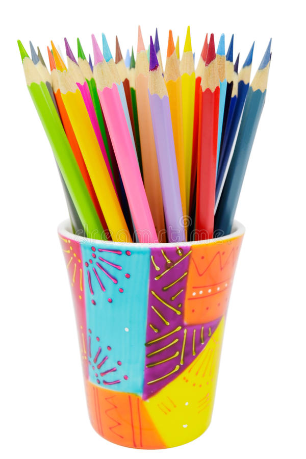 Grupo de lápis coloridos imagem de stock