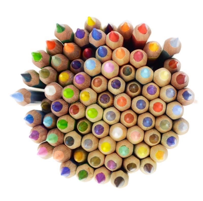Grupo de lápis coloridos fotografia de stock