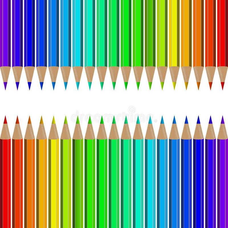 Grupo de lápis coloridos ilustração royalty free