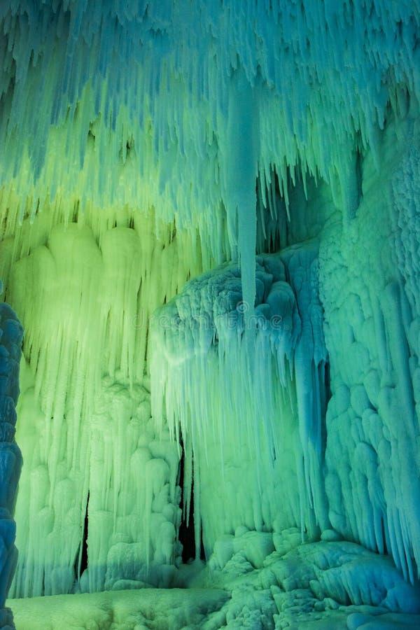 Grupo de la cueva de hielo de Yunqiushan imagenes de archivo