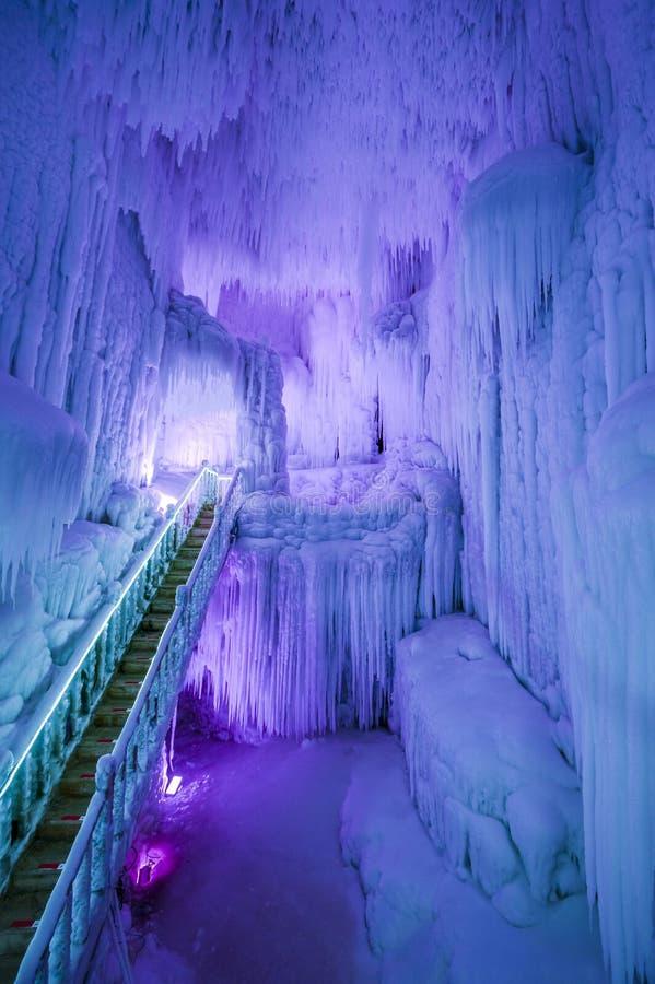 Grupo de la cueva de hielo de Yunqiushan imagen de archivo libre de regalías