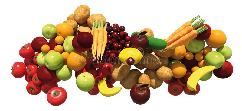 Grupo de la fruta y verdura libre illustration