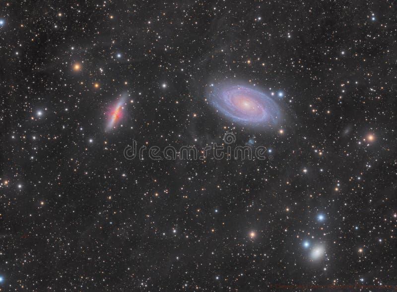 Grupo de la galaxia M82 y M81 imagen de archivo
