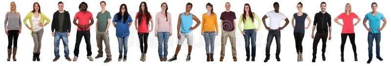 Grupo de la gente joven f étnica multi multicultural feliz sonriente fotografía de archivo