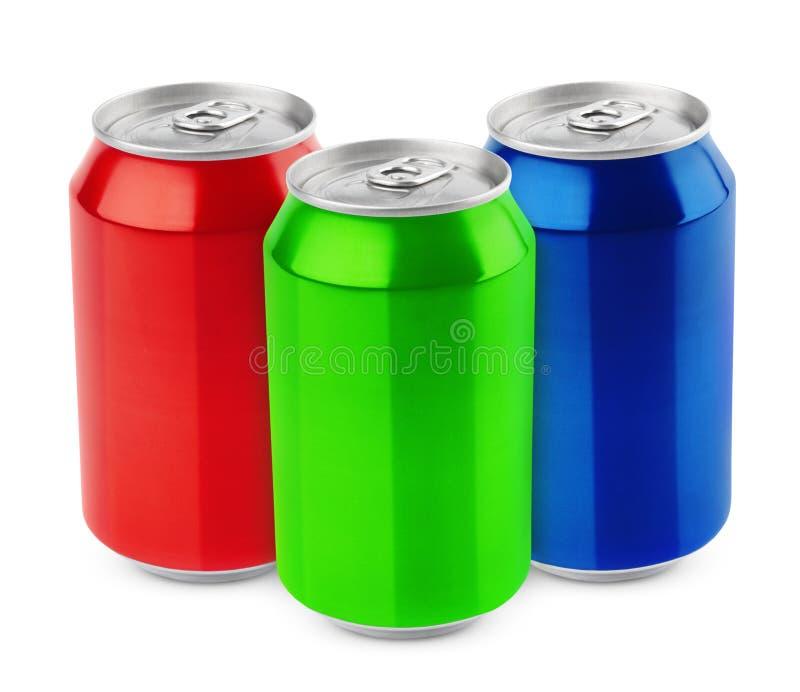 Grupo de latas de aluminio foto de archivo libre de regalías
