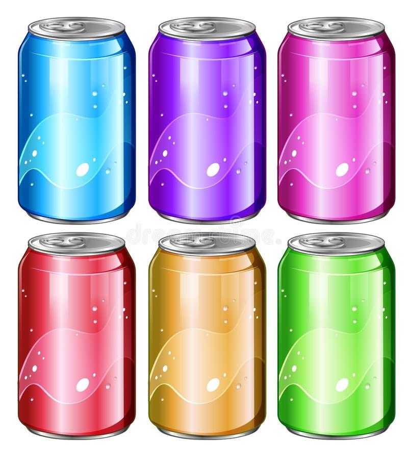 Grupo de latas de soda ilustração do vetor