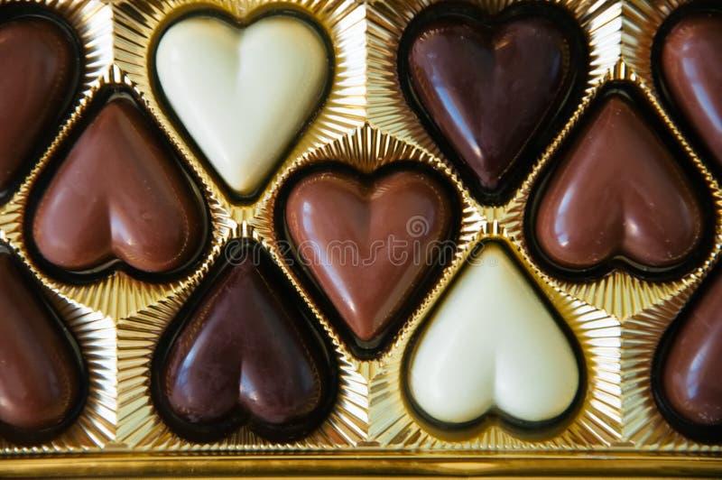 Grupo de leite escuro e do chocolate branco imagens de stock