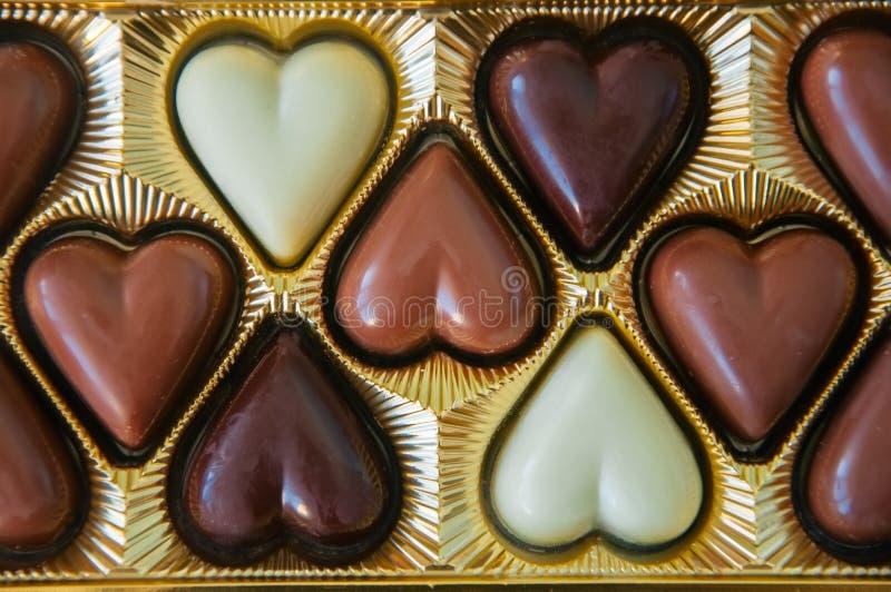 Grupo de leite escuro e do chocolate branco imagem de stock