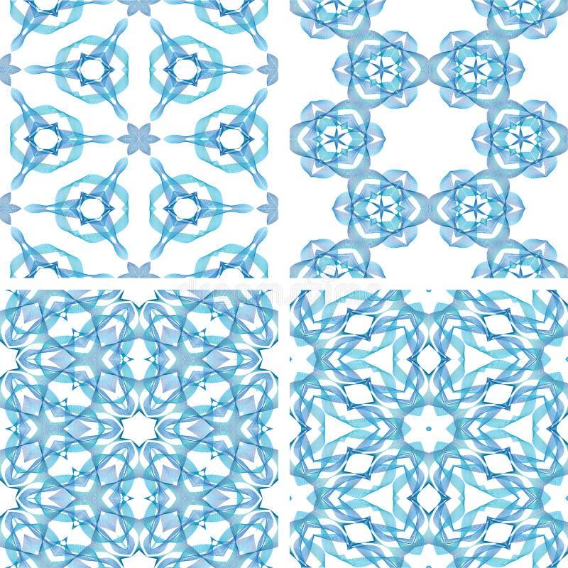 Grupo de linha fundo colorido sem emenda azul do abstrack ilustração stock