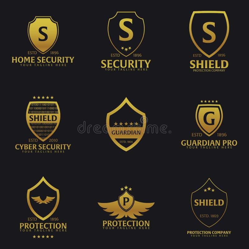Grupo de logotipo do protetor Empresa da proteção segurança guardian Ilustração do vetor ilustração royalty free