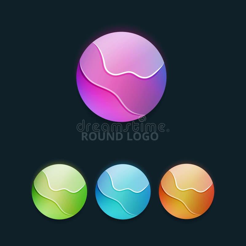Grupo de logotipo redondo colorido do negócio ilustração royalty free