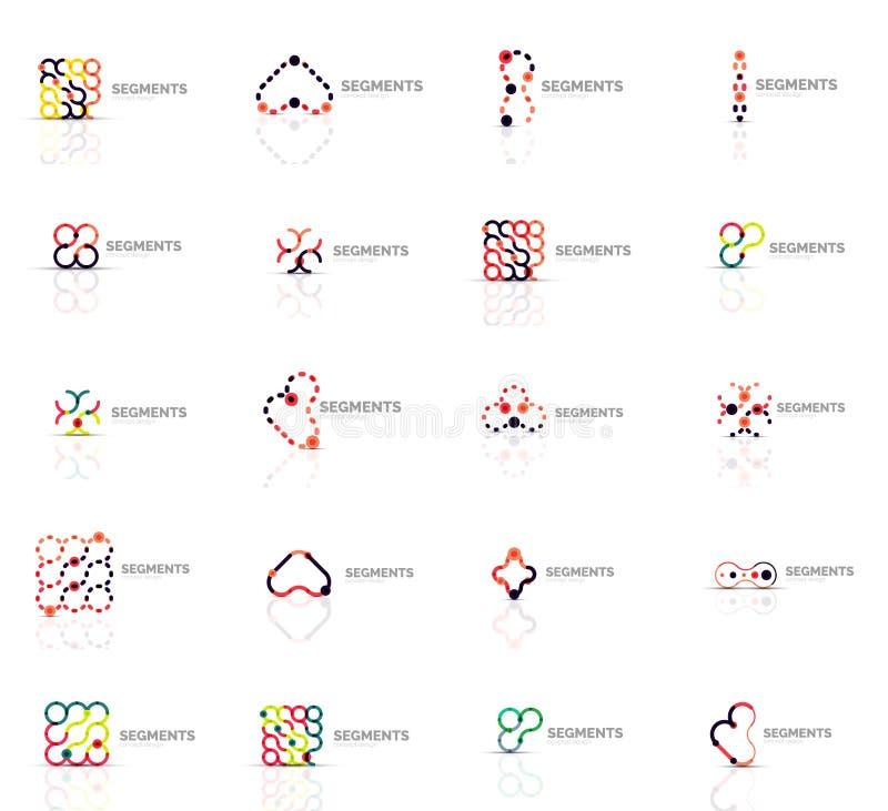 Grupo de logotipos abstratos lineares Redemoinho, círculo ilustração royalty free