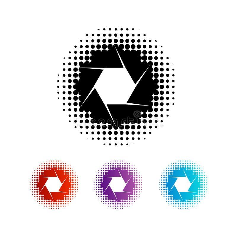 Grupo de logotipos da abertura da fotografia ilustração do vetor