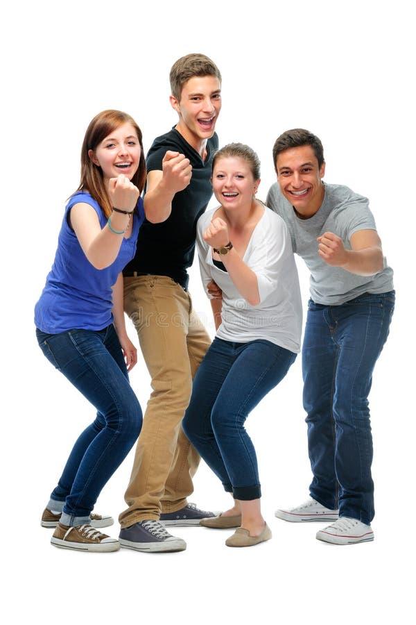 Grupo de los estudiantes universitarios fotos de archivo