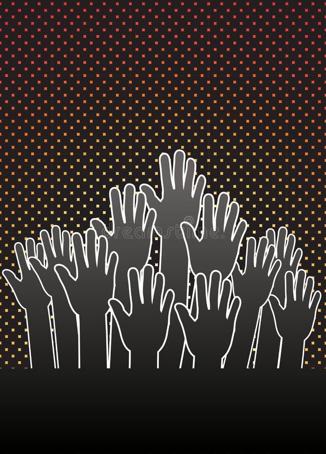 Grupo de mãos ilustração royalty free