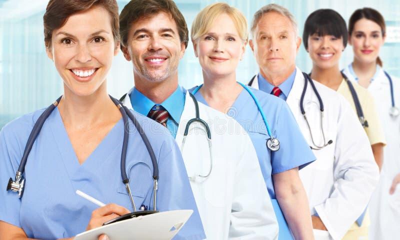 Grupo de médicos foto de stock