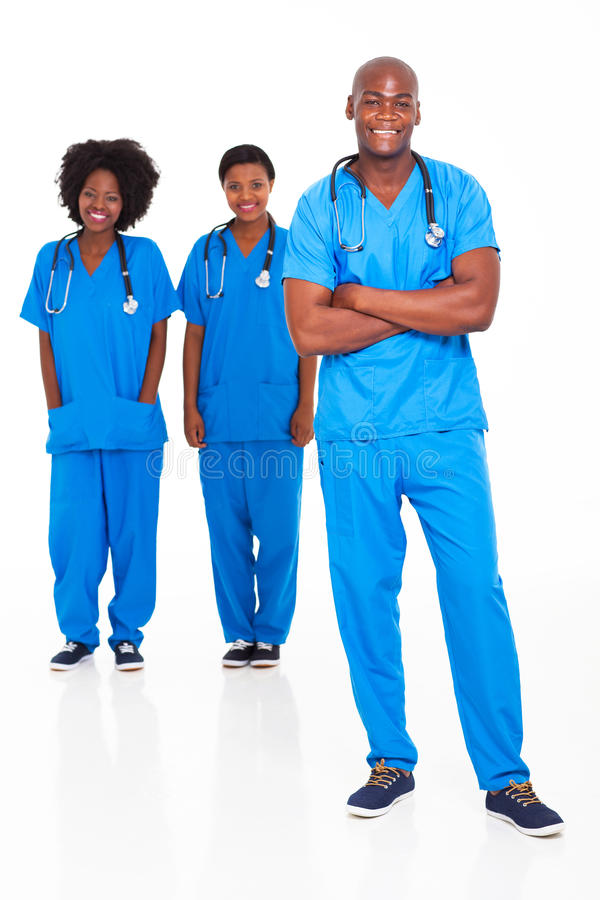 Enfermeras africanas de los doctores imagen de archivo libre de regalías