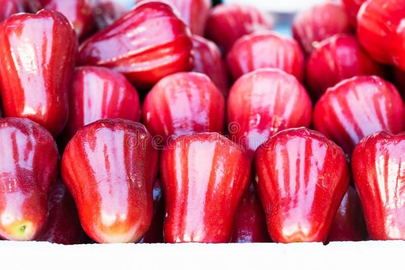 Grupo de ma?? cor-de-rosa vermelha fotografia de stock royalty free