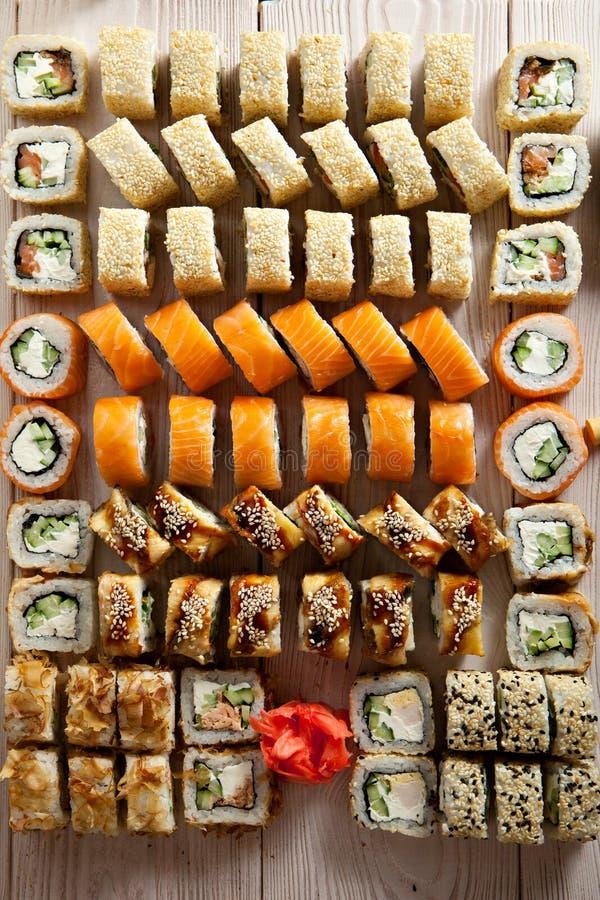 Grupo de Maki Sushi foto de stock royalty free