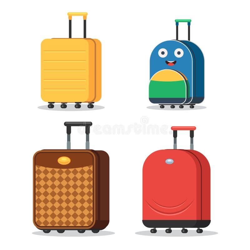 Grupo de malas de viagem ilustração royalty free