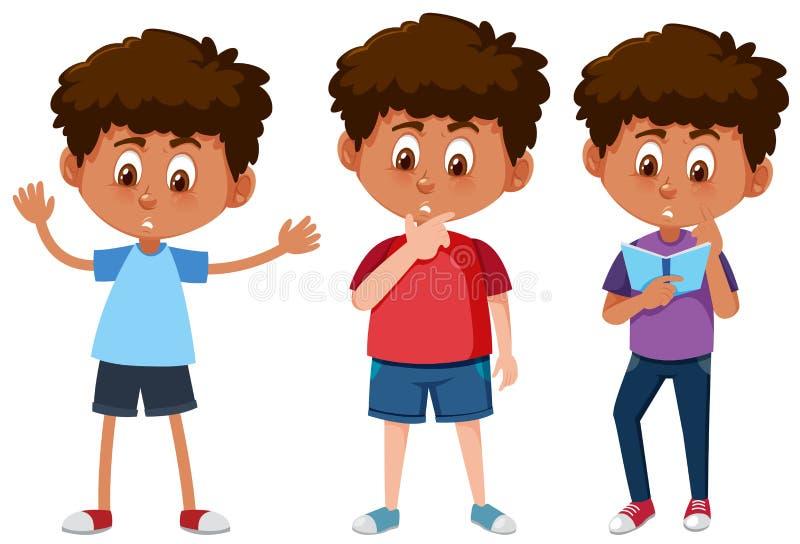 Grupo de meninos bronzeados ilustração do vetor