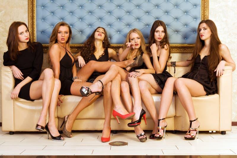 Grupo de modelos fotos de stock