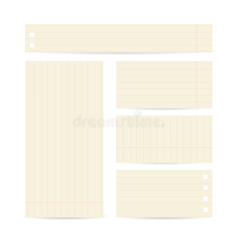 Grupo de molde abstrato dos cartões vazio ilustração do vetor
