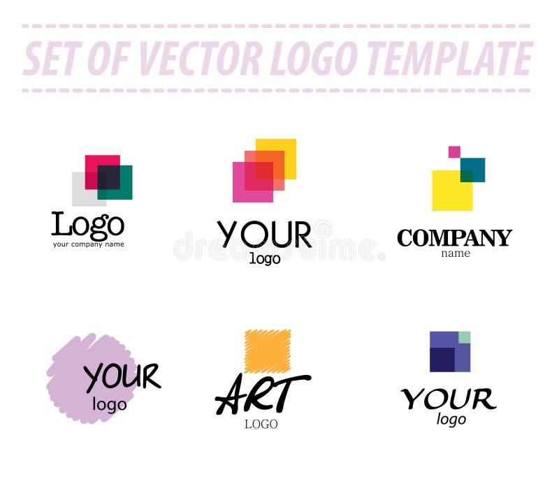 Grupo de moldes abstratos do logotipo do vetor ilustração do vetor