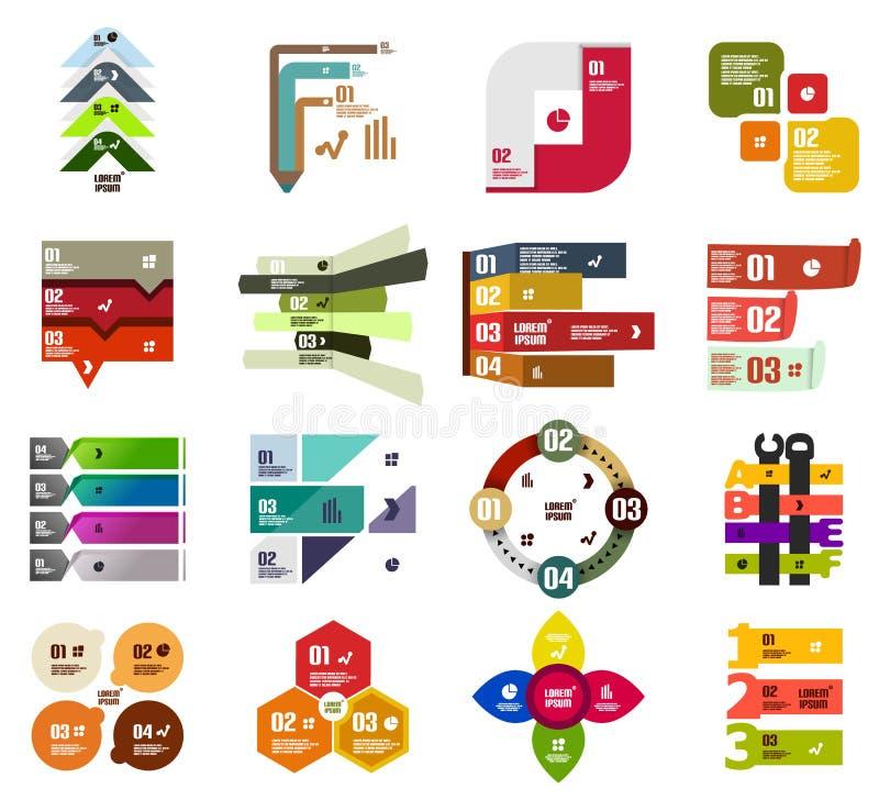 Grupo de moldes infographic modernos do projeto ilustração royalty free