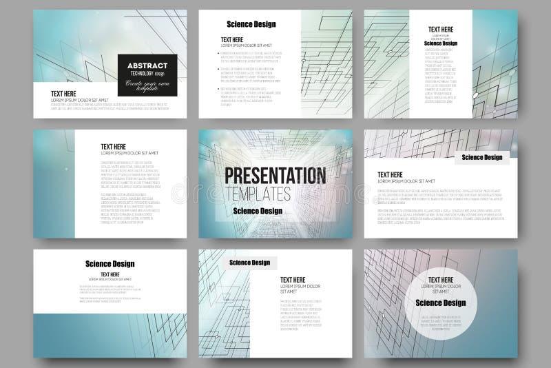 Grupo de 9 moldes para corrediças da apresentação ilustração royalty free