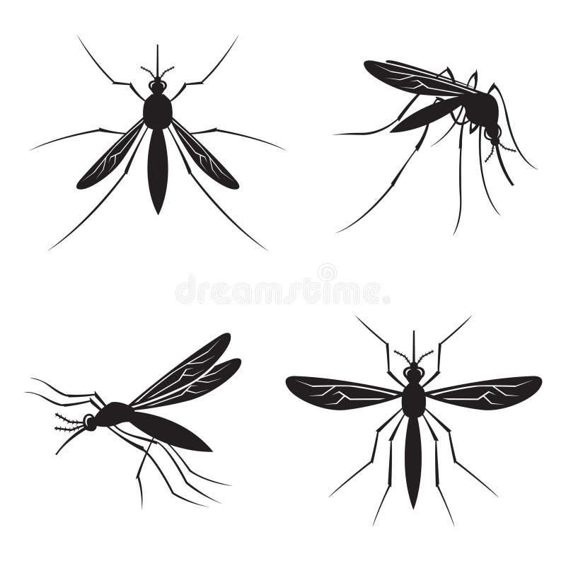 Grupo de mosquito ilustração royalty free
