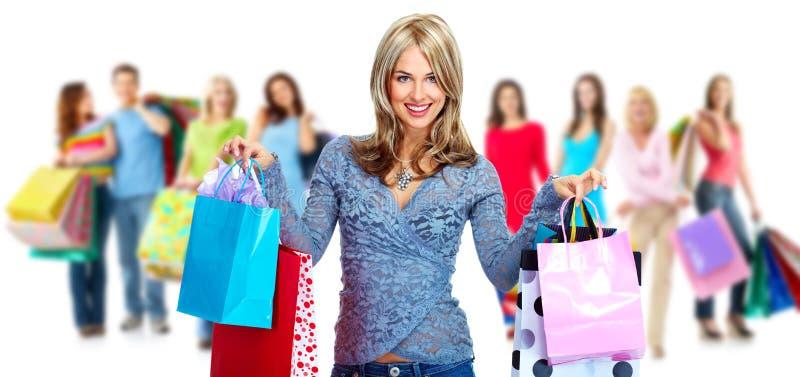 Grupo de mujer de las compras. fotos de archivo libres de regalías