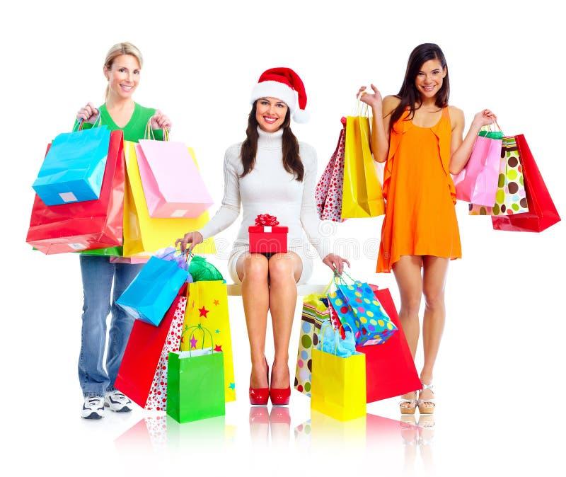 Grupo de mujeres de las compras fotografía de archivo libre de regalías