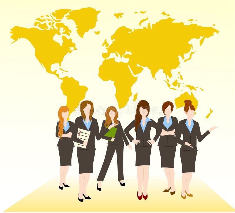 Grupo de mulher ilustração royalty free