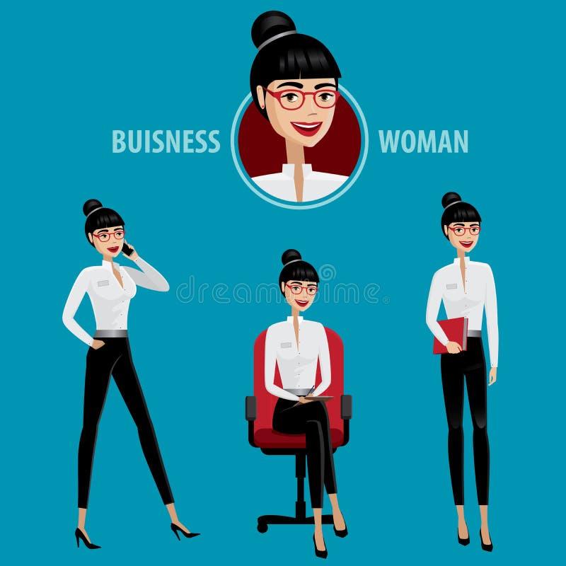 Grupo de mulher de negócio ilustração royalty free