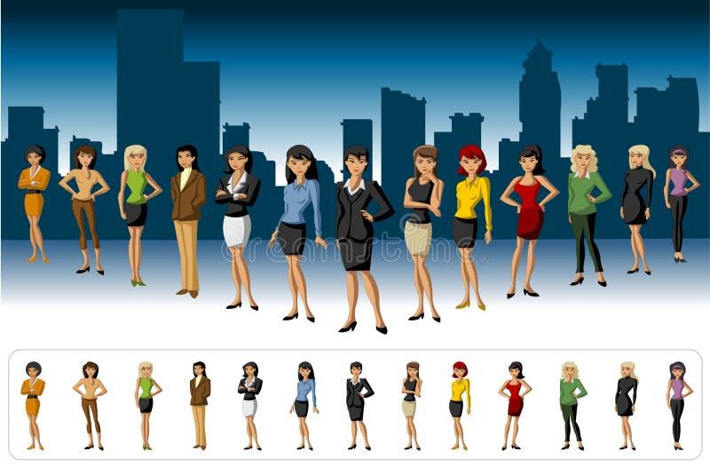 Grupo de mulheres ilustração royalty free