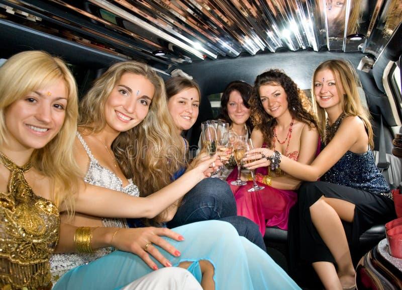 Grupo de mulheres bonitas foto de stock