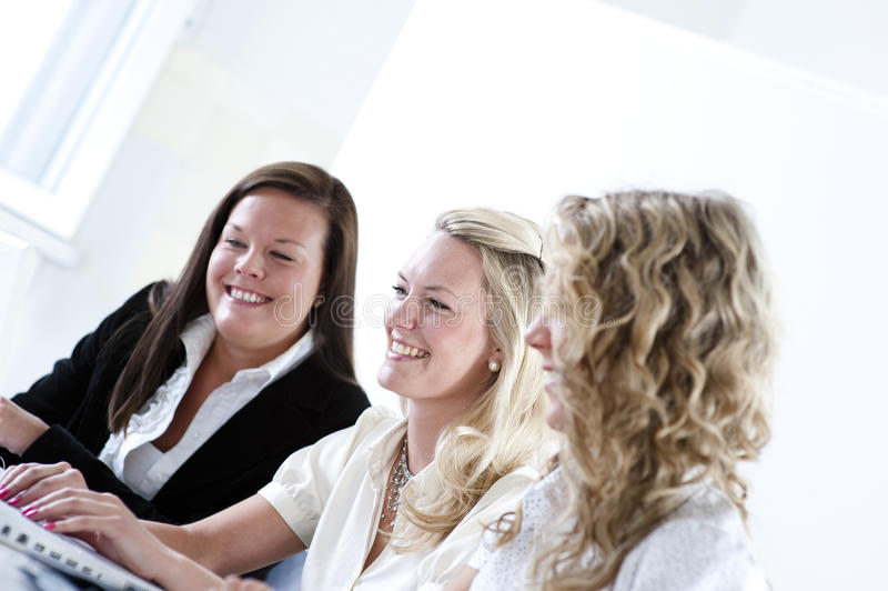 Grupo de mulheres de negócio foto de stock
