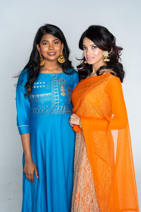 Grupo de mulheres indianas foto de stock royalty free