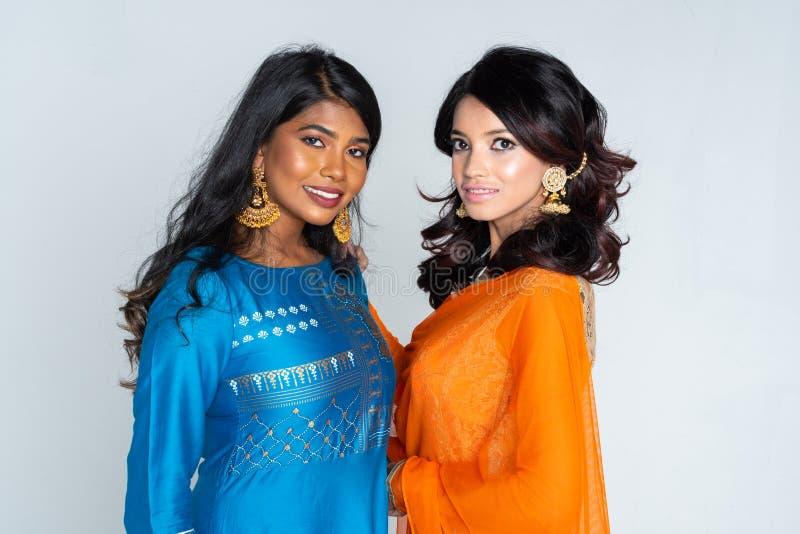 Grupo de mulheres indianas fotos de stock royalty free