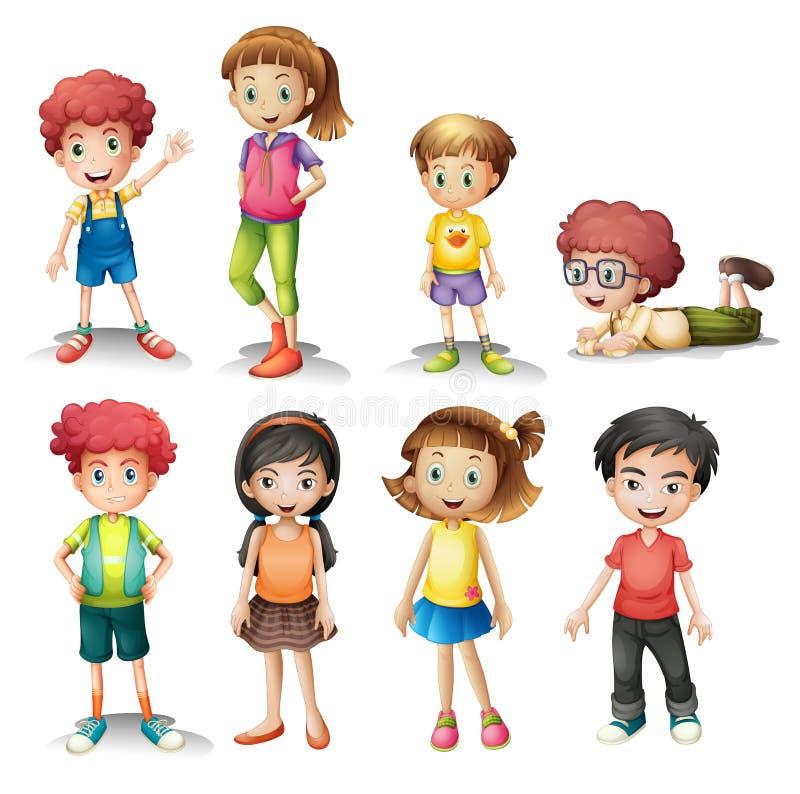 Grupo de niños stock de ilustración