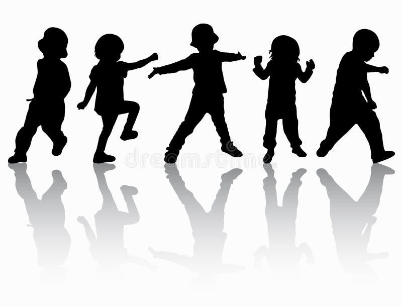 Grupo de niños ilustración del vector
