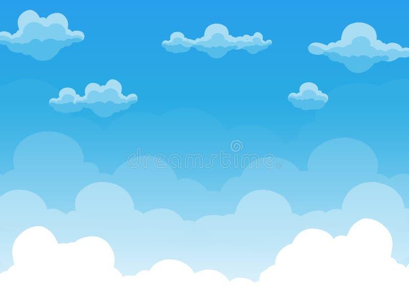 Grupo de nuvens no vetor do céu azul imagens de stock royalty free