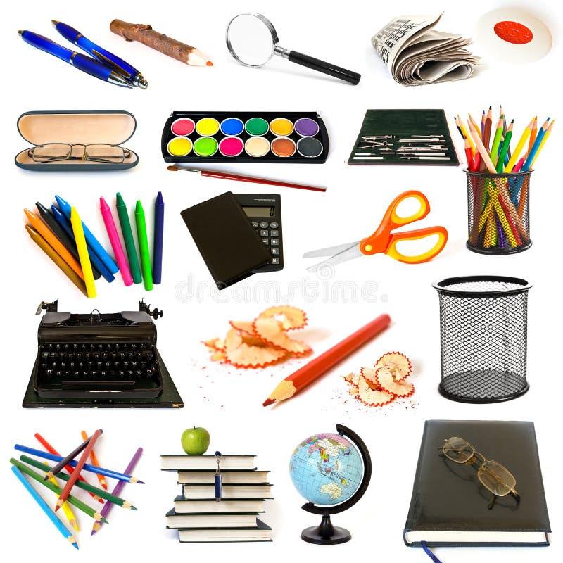 Grupo de objetos del tema de la educación imagenes de archivo