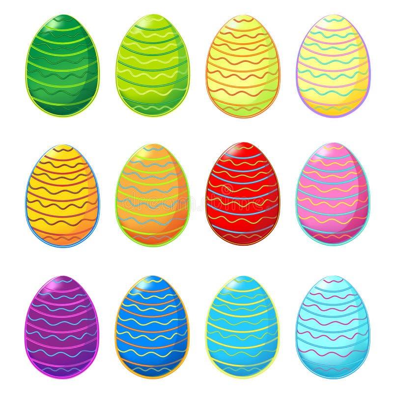 Grupo de ovos da páscoa foto de stock