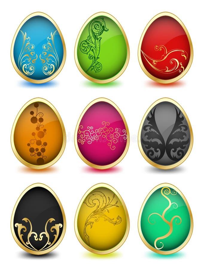 Download Grupo De Ovos Da Páscoa. Vetor Ilustração do Vetor - Ilustração de lilly, tecla: 29839698